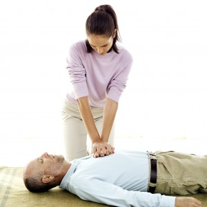 Woman Performing CPR
