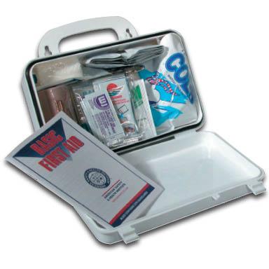 small plastic first aid kit