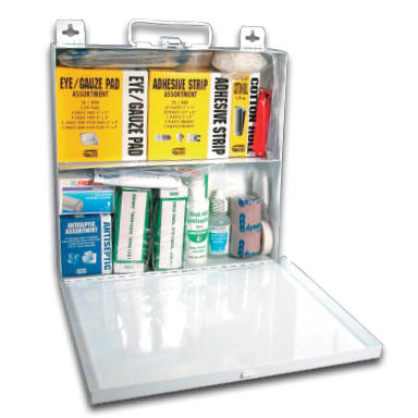 metal50 person first aid kit