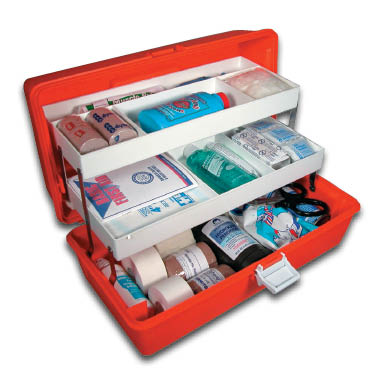 Sports first aid kits e firstaidsupplies image of orange plastic athletic trainers first aid kit publicscrutiny Image collections