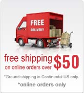 Free Shipping On online orders over 50