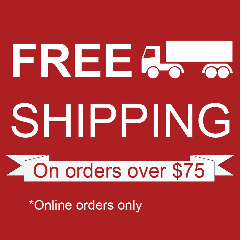 Free Shipping On online orders over 75